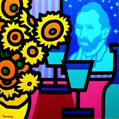 Wine-glass Painting - Still Life With Vincent by John  Nolan