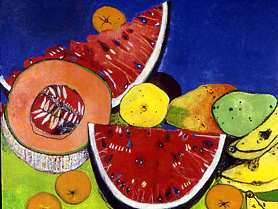 Still Life With Watermelons Print by Caroline Blum