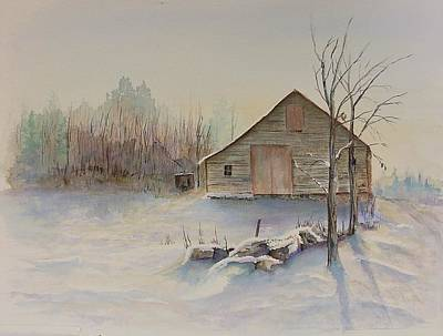 Still River Barn Print by Michael McGrath