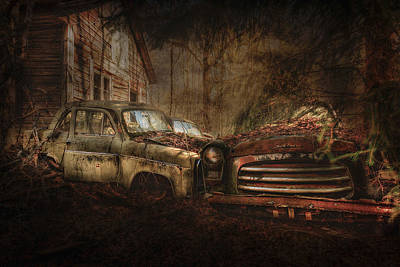 Scrap Metal Yard Photograph - Still Standing by Erik Brede