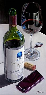 Italian Wine Painting - Still The One by Brien Cole