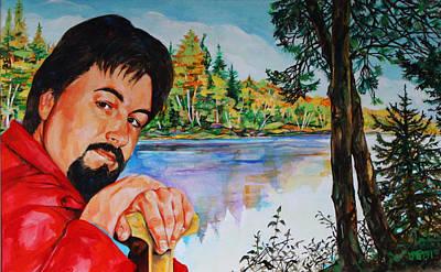 Canoeist Painting - Still Waters by Derrick Higgins