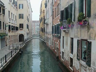Still Waters In Venice Italy Print by Jan Moore
