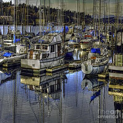 Sailboat Photograph - Still Water Masts by Jean OKeeffe Macro Abundance Art