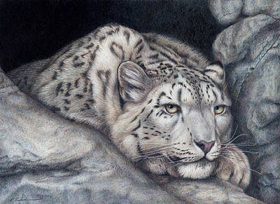 Colored Pencil Painting - Stillnes Like A Stone by Pat Erickson