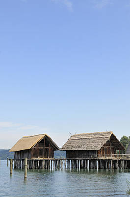 Stilt Houses At Lake Constance Germany Print by Matthias Hauser