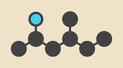 Atom Photograph - Stimulant Drug Molecule by Molekuul