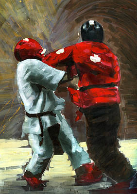 Ufc Painting - Sting Like A Hornet by Luis  Navarro