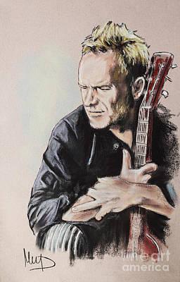 Sting Drawing - Sting by Melanie D