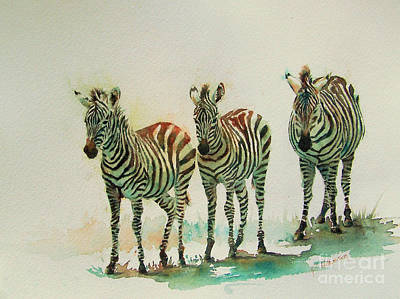 Zebra Painting - Stipes II by Patricia Henderson