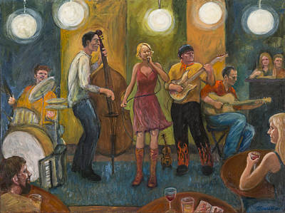 Stirfry At The Cafe Print by Laura Lee Cundiff