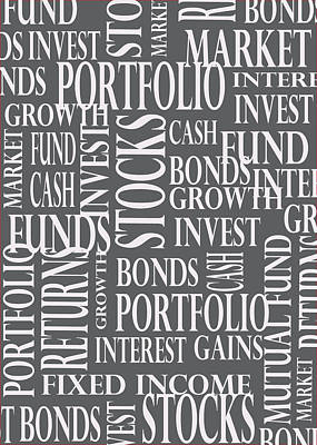 Stock Market Greeting Card Print by Financial Greeting Cards