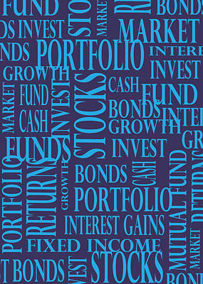 Stock Market Greeting Card I Print by Financial Greeting Cards