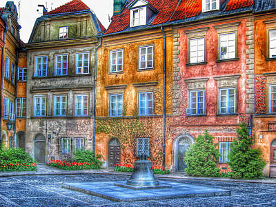 Sweden Digital Art - Stockholm Galma Stan Old Town 2 by Yury Malkov