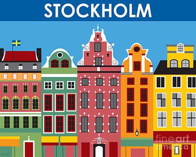 Stockholm Digital Art - Stockholm by Karen Young