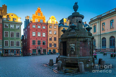 Nordic Photograph - Stockholm Stortorget by Inge Johnsson