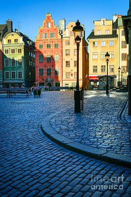 Nordic Photograph - Stockholm Stortorget Square by Inge Johnsson