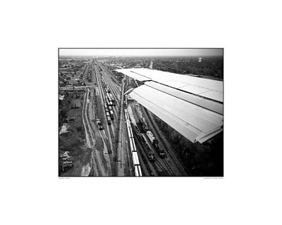 Airscape Photograph - Stockyards Chicago_miniprint by Jonathan Eastland