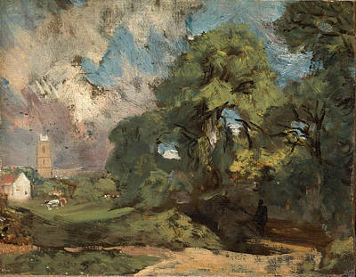 John Constable Painting - Stoke-by-nayland by John Constable