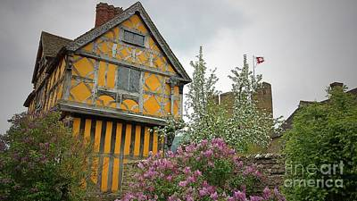 Flowers Photograph - Stokesay Gatehouse And Castle by Lisa Byrne