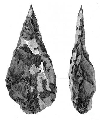 Stone Age Hand-axes From Hoxne, Suffolk Print by Wellcome Images