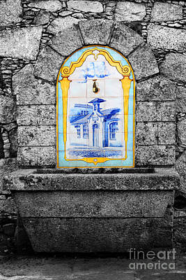 Ceramic Sinks Photograph - Stone And Ceramic Water Fountain by James Brunker