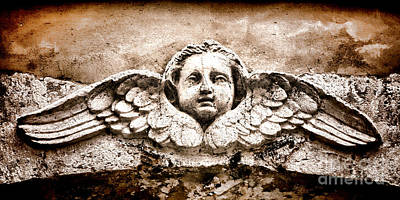 Bas-relief Photograph - Stone Angel by Olivier Le Queinec
