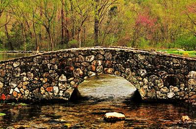 Arkansas Photograph - Stone Bridge In The Ozarks by Benjamin Yeager