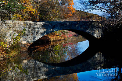 Rivers In The Fall Photograph - Stone Bridge by Jim  Calarese
