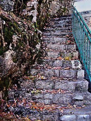 Clarksville Painting - Stone Stairway by Jane Schnetlage
