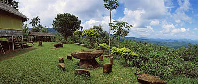 Stone Table With Seats, Flores Island Print by Panoramic Images
