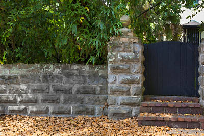 Stone Wall And Gate Print by Rich Franco