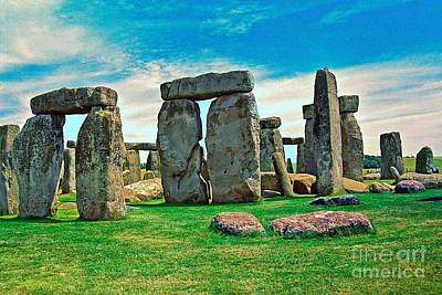 Stonehenge 2 Print by Alberta Brown Buller