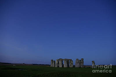 Stonehenge And Space Station Original by Pete Glastonbury