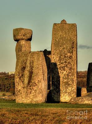 Ancient Photograph - Stonehenge At Sunset by Deborah Smolinske