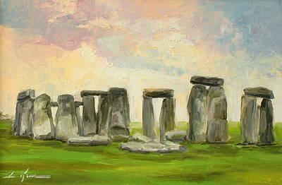 Megalith Painting - Stonehenge by Luke Karcz