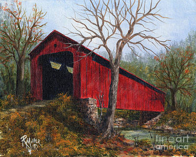 Covered Bridge Painting - Stonelick Williams Corner Covered Bridge Clermont County Ohio 1 by Rita Miller