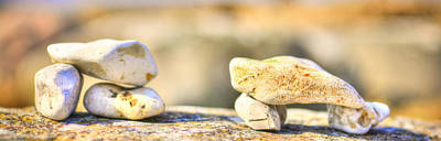 Stones Balance By The Ocean Original by Toppart Sweden