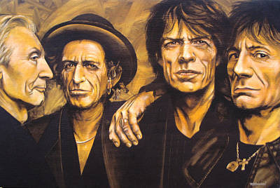 Keith Richards Painting - Stones  by Bruce McLachlan