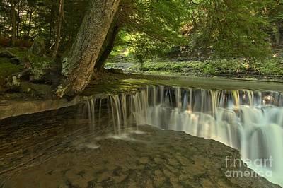 Ledge Photograph - Stony Brook Ledge Cascades by Adam Jewell