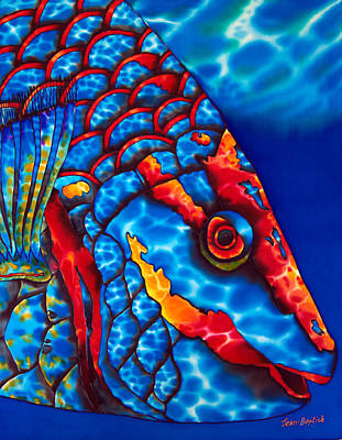 Stoplight Parrotfish Print by Daniel Jean-Baptiste