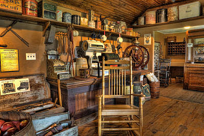 Rocking Chairs Photograph - Store - The American General Store by Lee Dos Santos