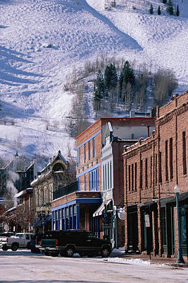 Storefronts, Aspen, Colorado Print by Panoramic Images