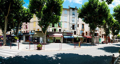 Provence Photograph - Stores Closed During Lunch Hour by Panoramic Images