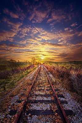 Train Tracks Photograph - Stories To Be Told by Phil Koch