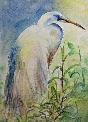 Stork Mixed Media - Stork by Jieming Wang