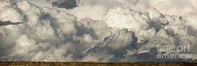 Storm And Sagebrush Desert  Print by Yva Momatiuk John Eastcott