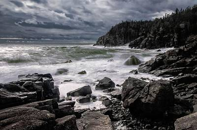 Quoddy Photograph - Storm At Gulliver's Hole by Marty Saccone