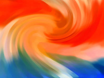 Abstract Forms Digital Art - Storm At Sea 1 by Amy Vangsgard