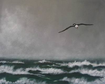 Albatross Painting - Storm At Sea by Robert Bleackley
